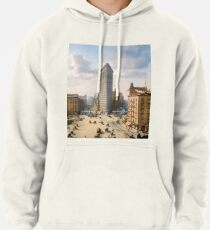Flat Iron in New York City, ca 1903 colorized Pullover Hoodie