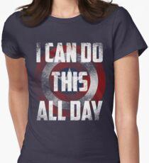 Camiseta entallada para mujer Puedo hacer esto todo el día. proteger