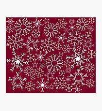 Burgundry snowflakes Photographic Print