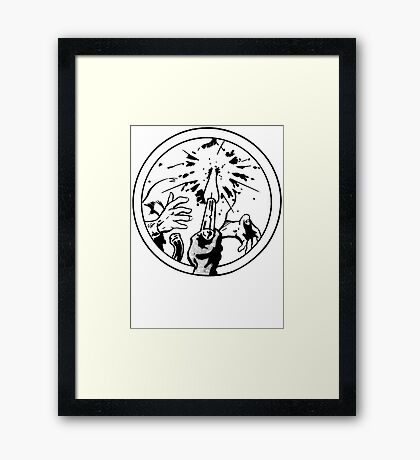 to the face Framed Print