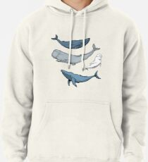 Whales are everywhere Pullover Hoodie