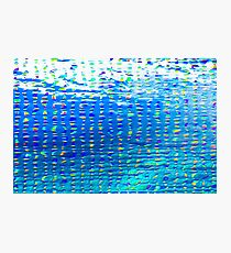 Oil painting of Aqua background and light rays Photographic Print