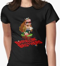 Brawling Brothers - ManBearPig Women's Fitted T-Shirt
