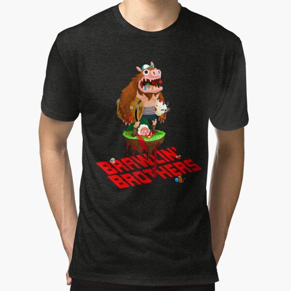 Brawling Brothers - ManBearPig Tri-blend T-Shirt