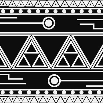 Afro Futuristic pattern by jhaijhai
