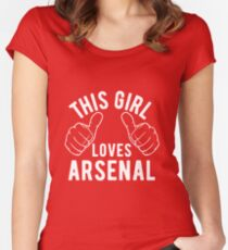 This Girl Loves Arsenal Women's Fitted Scoop T-Shirt