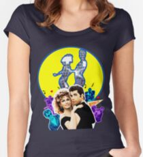 Grease Olivia Newton-John - John Travolta- Blue Moon Women's Fitted Scoop T-Shirt
