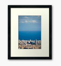 Barcelona City, Spain Framed Print