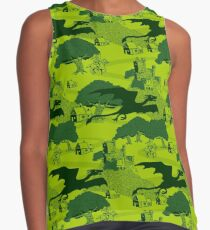 8 bit Dragons Knights and Castles Video Game Tribute Contrast Tank