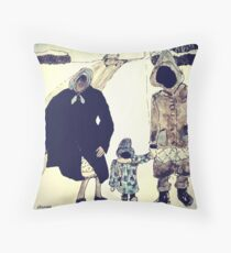 Wildago's Hannah in the Snow Throw Pillow