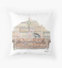 Alfred's Happy Place Throw Pillow