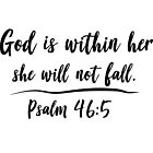 God is within her she will not fall by christianity