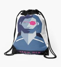 Escape from New York (1981) 80s Sticker Drawstring Bag