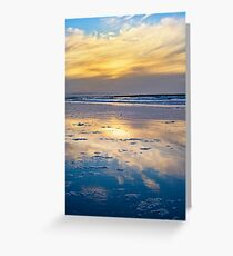 yellow reflections and calm waves Greeting Card