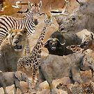 African collage by Linda Sparks