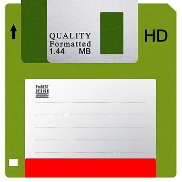 Green Floppy Disk by ProBEST