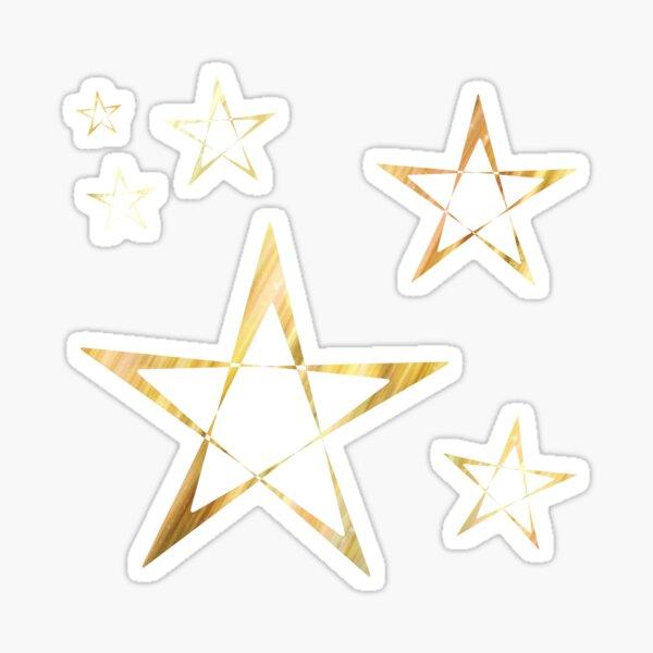 Golden Stars Print on Red Sticker