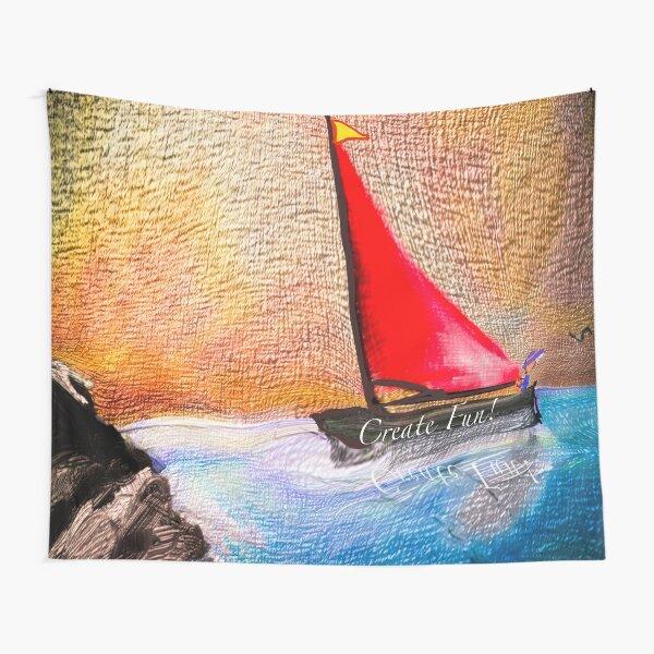Create Fun - Sail Toward Good Feeling Times Tapestry