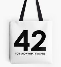 The meaning of life, the universe and everything Tote Bag