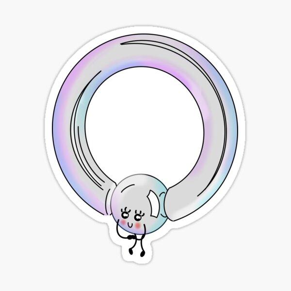 Cute Captive Bead Ring Sticker