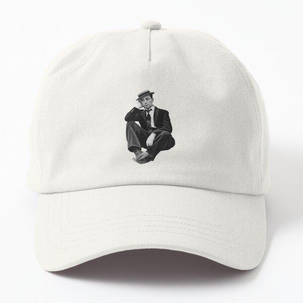 Buster Keaton. On Black. Dad Hat