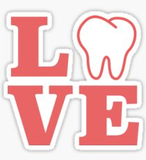 Dental Themed Love With Molar Sticker