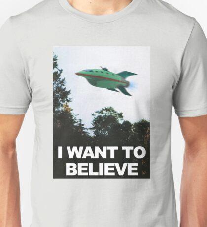 I Want To Believe - Futurama Unisex T-Shirt