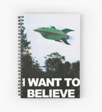 Cuaderno de espiral Quiero creer - Futurama