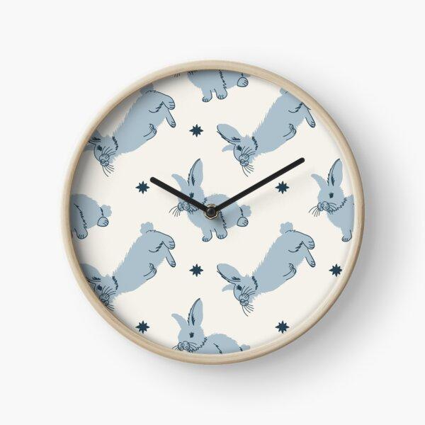 Meadow Rabbits in Powder Clock