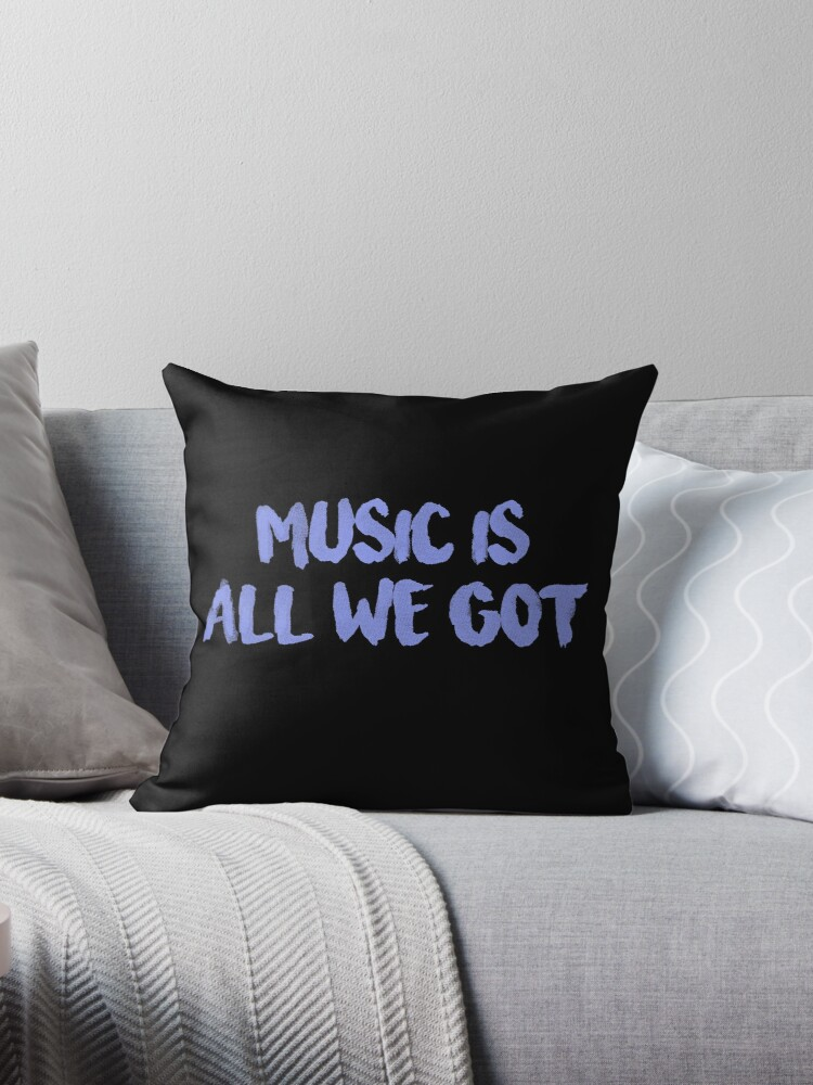 All We Got Chance The Rapper Lyric Throw Pillows By Jamie Malone