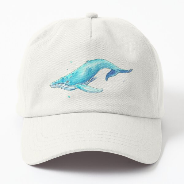 Roger - Watercolor Whale Dad Hat