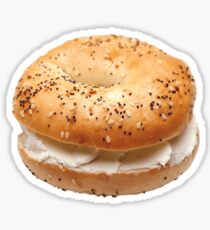Bagel with cream cheese Sticker