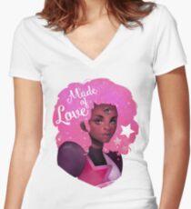 GARNET - STEVEN UNIVERSE - MADE OF LOVE Women's Fitted V-Neck T-Shirt