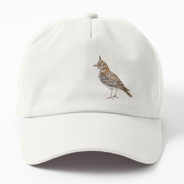 Crested Lark in gouaches Dad Hat