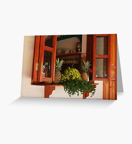 Kitchen Window in Mexico Greeting Card