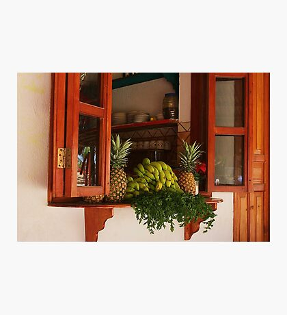 Kitchen Window in Mexico Photographic Print