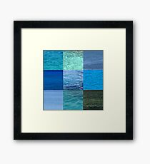 Ocean Blues Framed Print