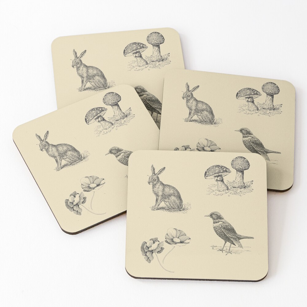 FOLKTALES FOR THE DISEASED INDIVIDUAL Official Merch Coasters (Set of 4)