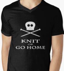 Knit or Go Home Men's V-Neck T-Shirt