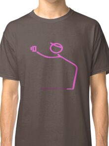 Hot Pink Photographer Graphic Classic T-Shirt