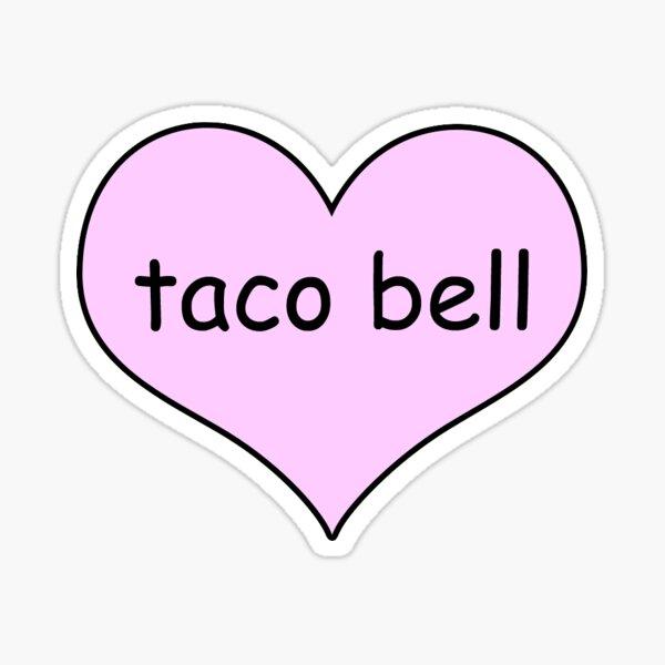 taco bell love Sticker