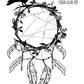 Nevermore Raven Edgar Allan Poe by Happy-Bird