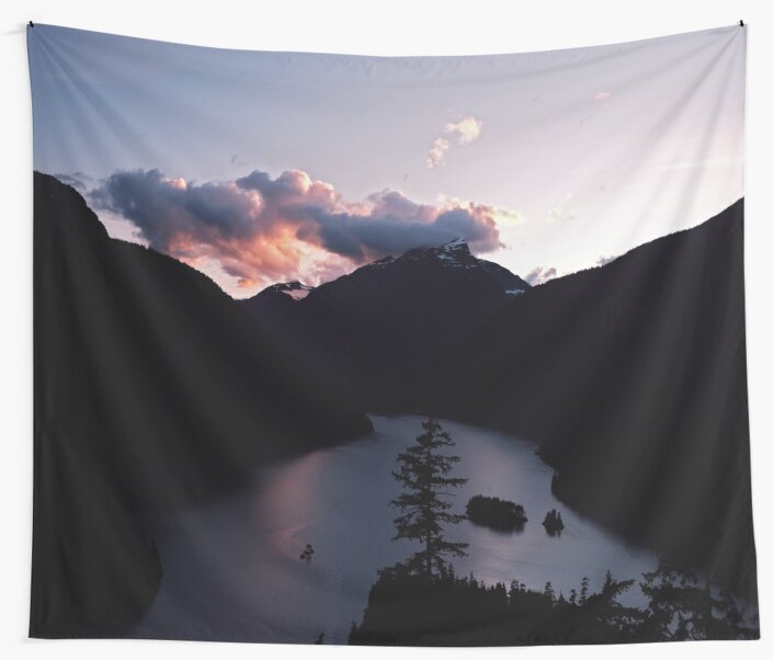 Purple Sunset at Diablo Lake by Cierra Artis