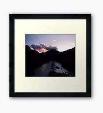 Purple Sunset at Diablo Lake Framed Print