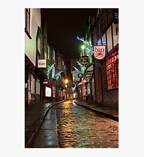 The Shambles Christmas Photographic Print