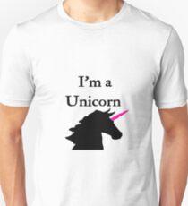 I'm a Unicorn Photo 2 Black Pink Horn T-Shirt
