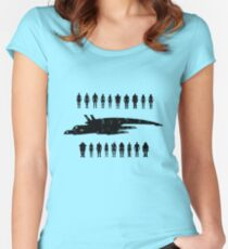 Normandy and the squad 2 Women's Fitted Scoop T-Shirt
