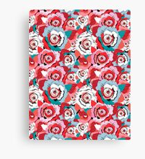 Lovely rose pattern graphics Canvas Print