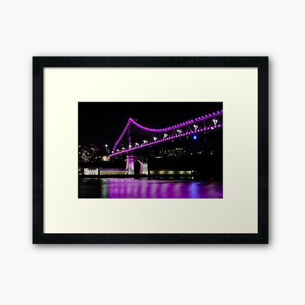 story bridge, brisbane, queensland, australia Framed Art Print