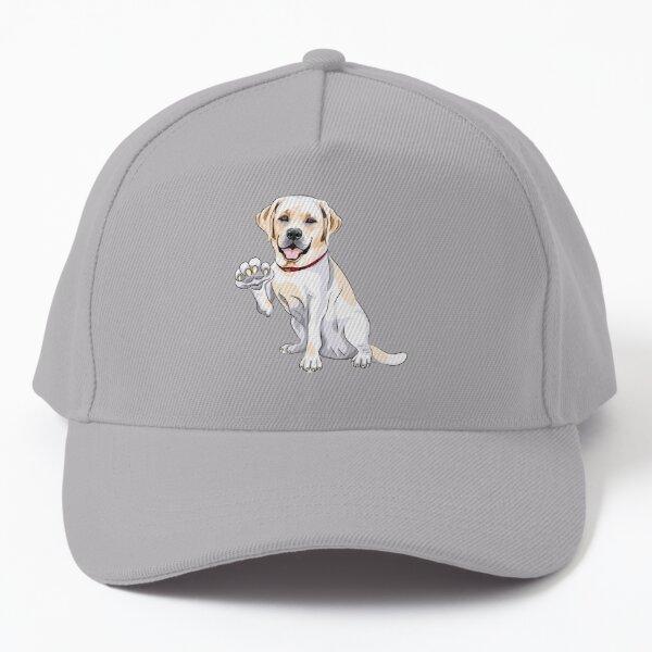 Labrador Retriever smiles and gives a paw Baseball Cap